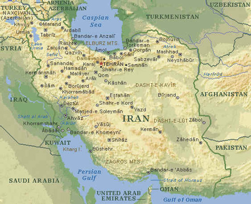 map of iran and neighboring countries. Map of Iran